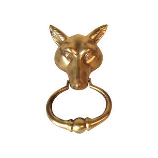 Solid Brass Fox Doorknocker