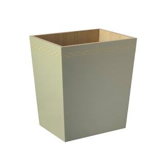 Selamat Designs Norma Taupe Bamboo Wastebasket