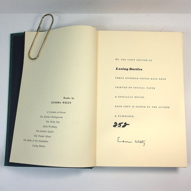 "Image of Eudora Welty ""Losing Battles"" Signed Book"