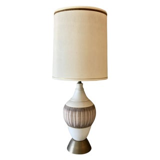 Mid-Century Modern Chalkware Table Lamp
