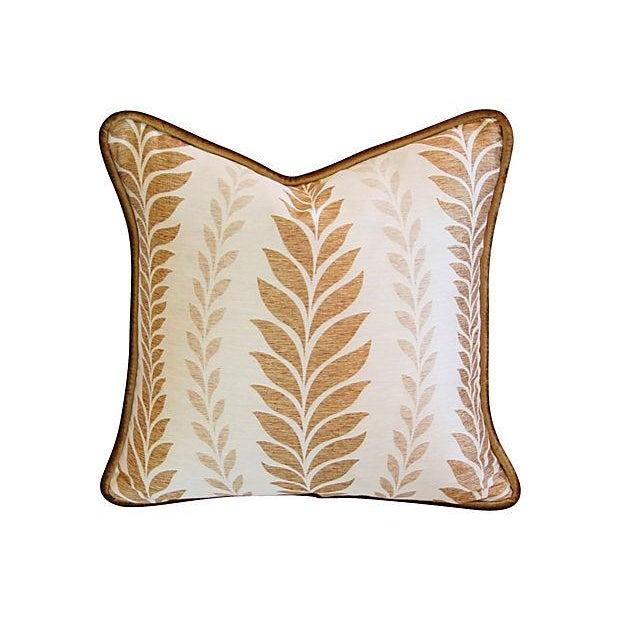 Iman Golden Zahra Golden Leaf Pillows - A Pair - Image 6 of 7