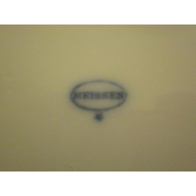 Meissen Blue & White Onion Pattern Porcelain Plate - Image 5 of 6