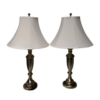 Bronze Table Lamps - A Pair