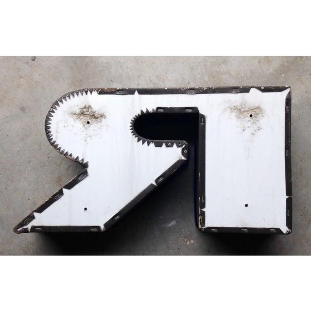 """Image of Vintage Sign, Letter """"R"""""""