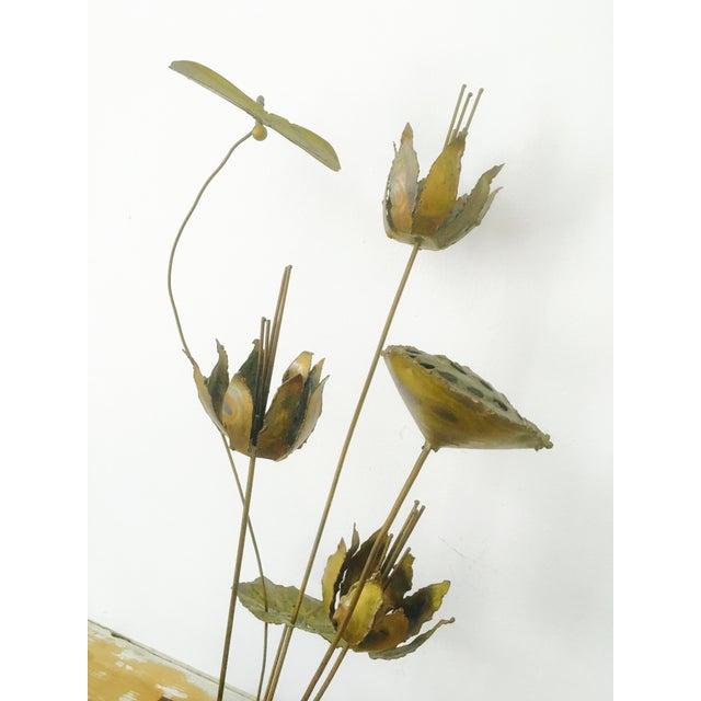Image of Jere Style Brutalist Brass Botanical Sculpture