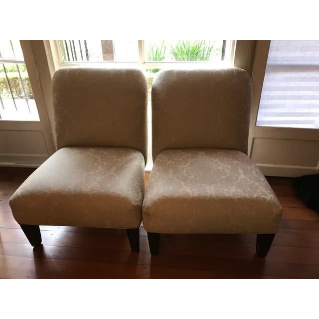 Cisco Home Armless Linen Slipper Chairs - A Pair - Image 2 of 6