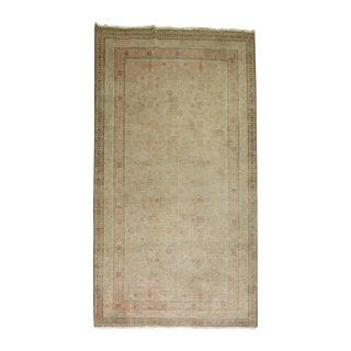 19th Century Distressed Khotan Rug 6'3'' X 12'6''
