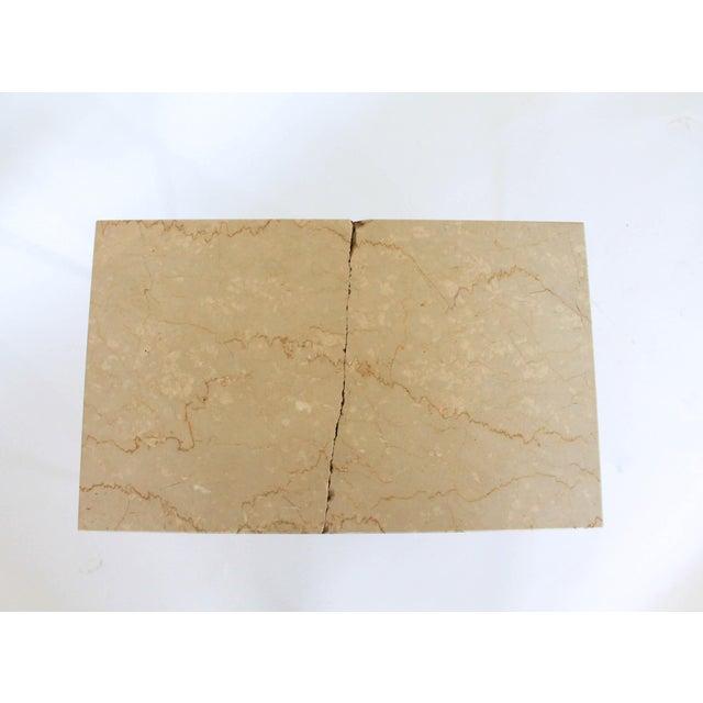 Rectangular Brass & Travertine Table - Image 9 of 11