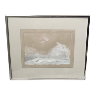 Summer Seascape Watercolor Painting