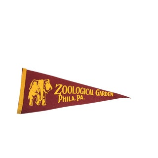 Zoological Garden Philadelphia PA Felt Flag