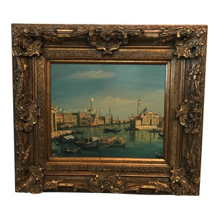 Golden Wood Gilt Framed Oil Painting