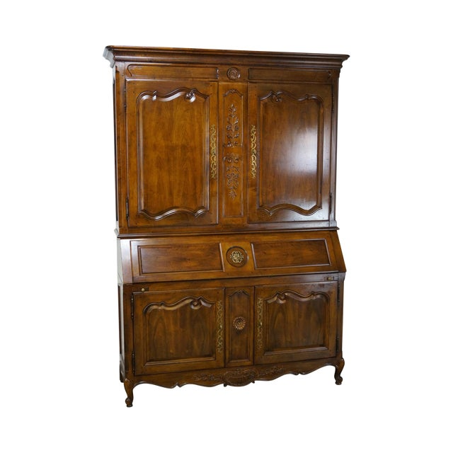 Image of Henredon French Louis XV Style Secretary Desk