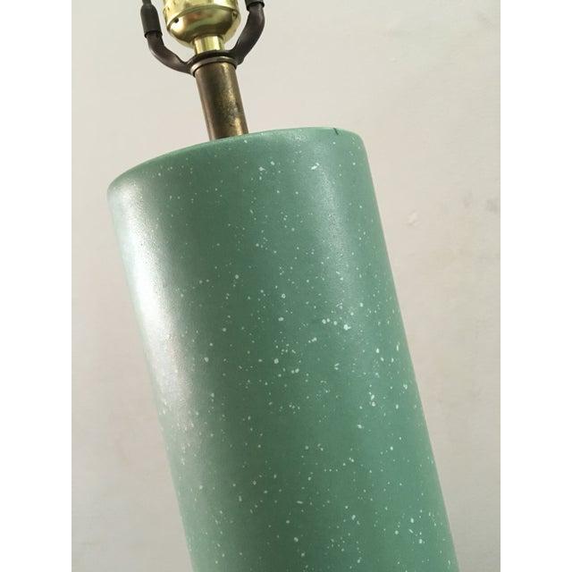 Mid-Century Turquoise Ceramic Table Lamp - Image 7 of 8