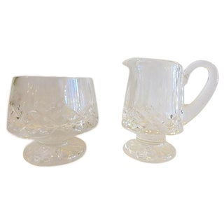Waterford Cut Crystal Cream and Sugar Set - A Pair