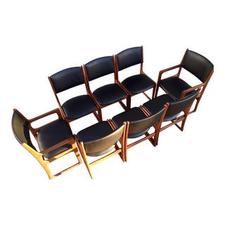Danish Modern Teak Dining Chairs - Set of 8
