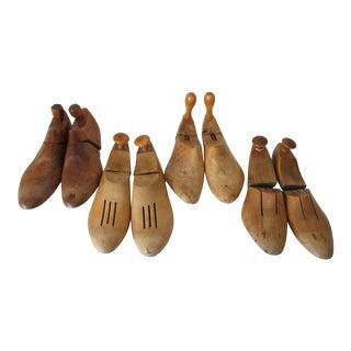 Antique Wooden Shoe Forms - 8 Pieces