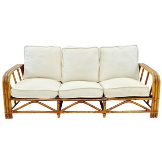 Vintage Ficks Reed Rattan Sofa