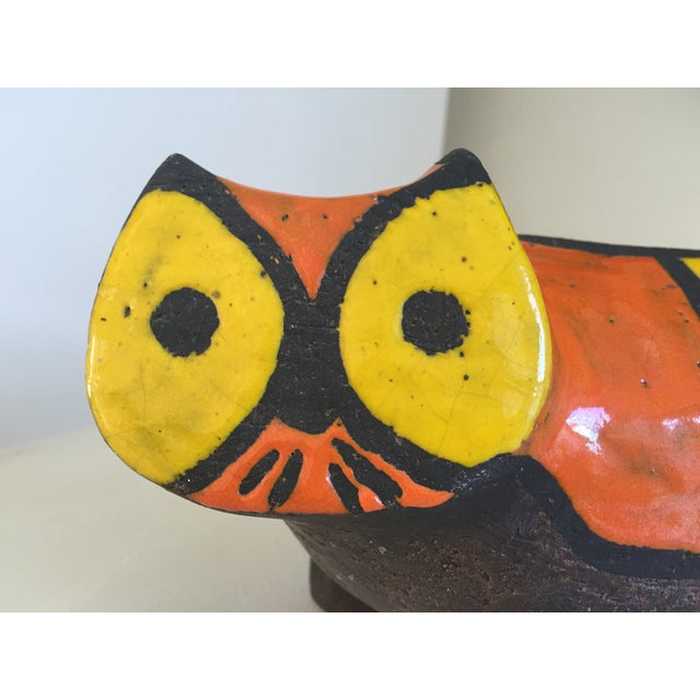 Image of Vintage Ceramic Stoneware Cat Sculpture