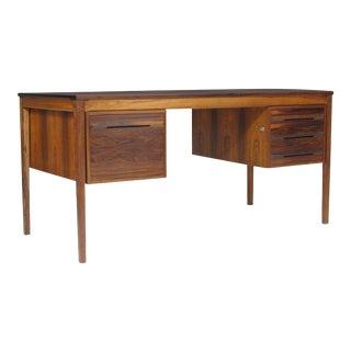 Haug Snekkeri Midcentury Rosewood Desk with Filing Cabinet