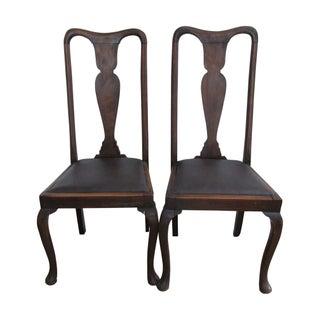 Antique Queen Anne Chairs - A Pair