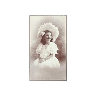 1910 Antique Girl in Bonnet Photograph