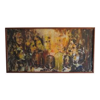 Jesus & Disciples Religous Folk Art Oil Painting