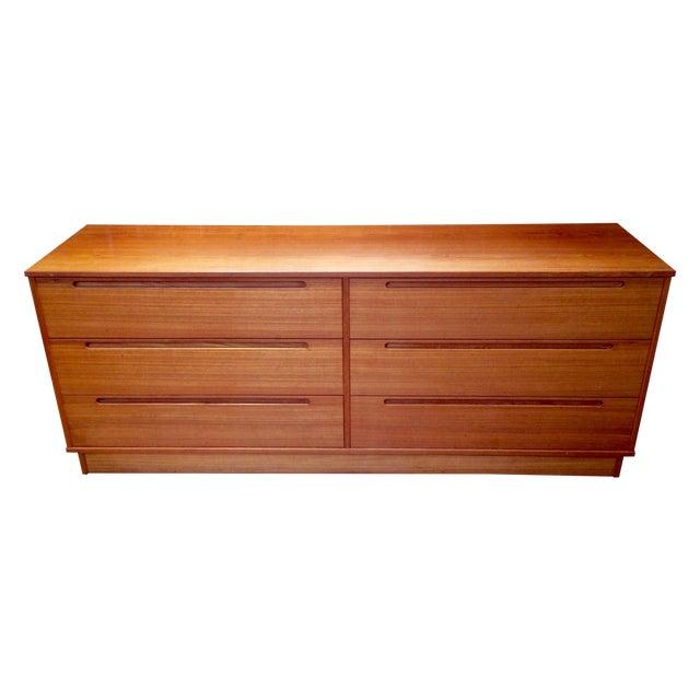 Danish Modern Teak Six-Drawer Dresser - Image 1 of 7