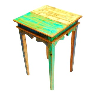 Antique Side Table Eco-Friendly Reclaimed Solid Wood