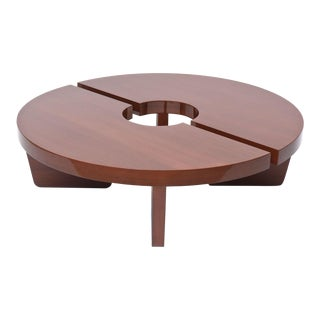 American Modern Mahogany Two Part Low Table, Harvey Probber