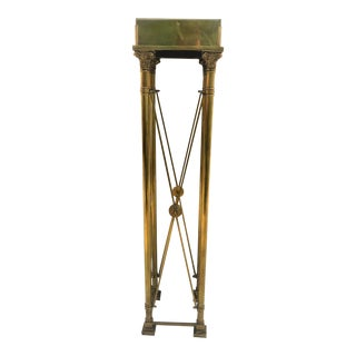 Directoire Style Brass Pedestal with Lion's Heads