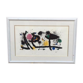 joan miro signed lithograph vintage piece in great condition
