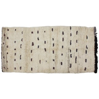 Moroccan Soft Wool Rug - 3′6″ × 7′6″