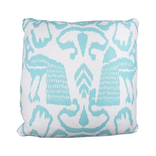 Aqua Bali Isle Linen Pillows- a Pair - Image 2 of 7