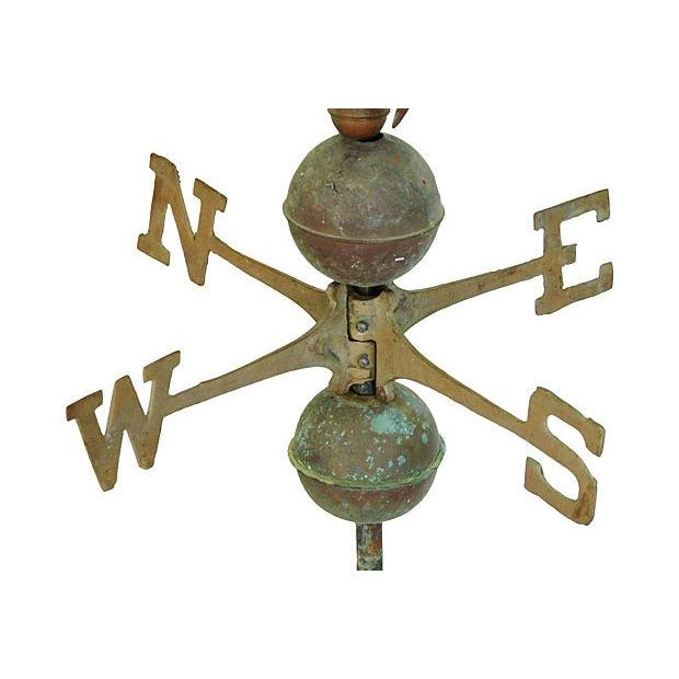 Image of Vintage Copper Sailfish Weathervane with Stand
