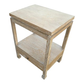 Serena & Lily Reese Ash Wood Side Table W/ 1 Drawer