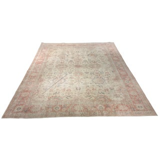 Bellwether Rugs Antique Distressed Oushak Rug - 8′5″ × 12′1″