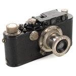 Image of 1930s Leica III Black Camera With 5cm Elmar Lens