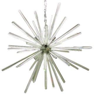 Italian Chrome & Glass Sputnik Chandelier