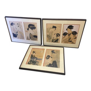 Kitagawa Utamaro Ukiyo-e Prints- Set of 6