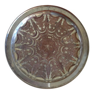 Vintage Moroccan Engraved Patterned Tray