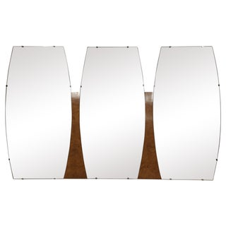 Mid-Century Triple Mirror