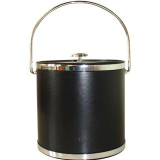 Kraftware Mid-Century Style Black Ice Bucket