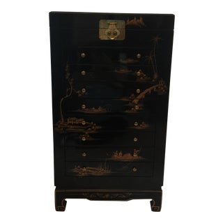 Asian Hand Painted Armoire