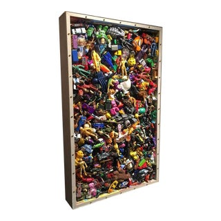 Phenomenal Collection of Toys Encased in a Lucite Front Box by J. Santamarina