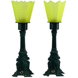 Green Lion Griffith Table Post Style Street Lamp