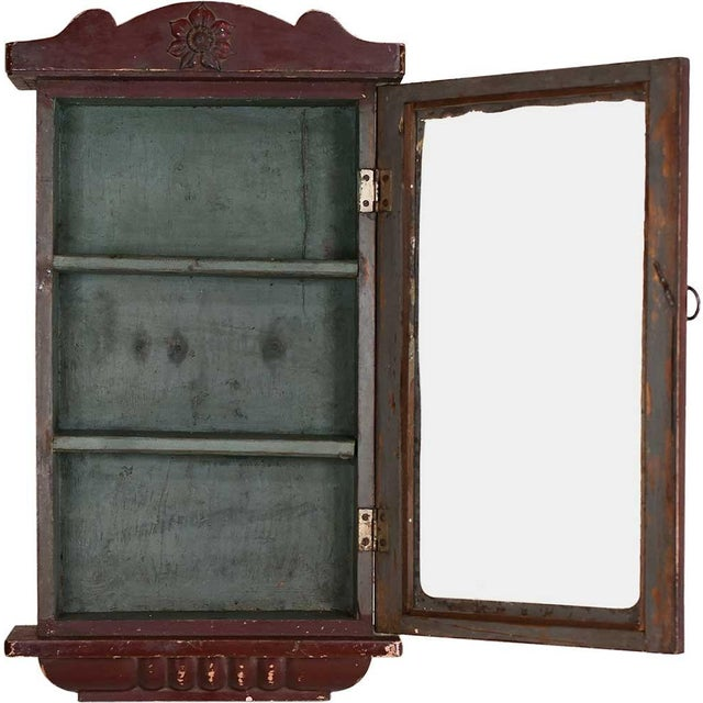 Image of Cinnamon Showcase Wall Cabinet
