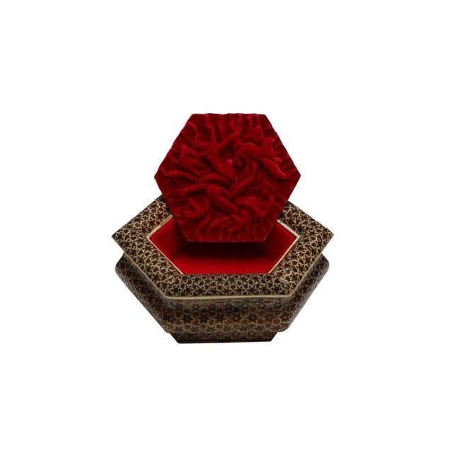 Hexagonal Wood Inlaid Box - Image 4 of 4