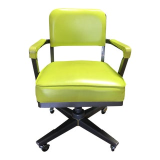 Vintage Neon Green Office Chair