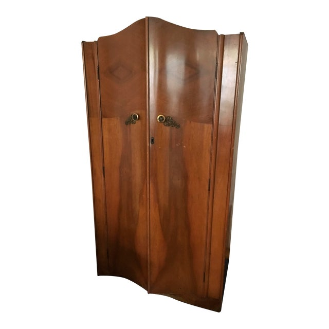 Vintage 1930's Wooden Armoire - Image 1 of 6