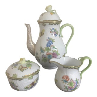 Herend Queen Victoria 3-Piece Coffee Set